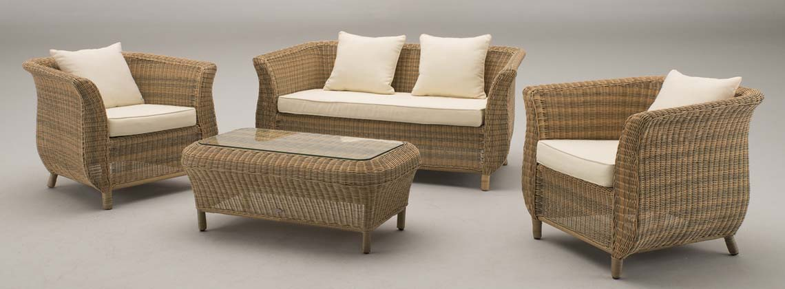 Rattan finest round french bamboo u lounge chair s